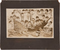 Baseball Collectibles:Photos, 1909 Pittsburgh Pirates National League Champions CabinetPhotograph....