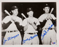 Autographs:Photos, Circa 1990 Joe DiMaggio, Mickey Mantle & Ted Williams SignedPhotograph....