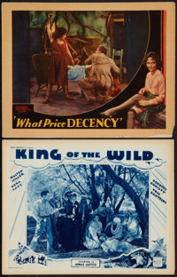 """King of the Wild and Other Lot (Mascot, 1931). Lobby Cards (2) (11"""" X 14"""") Chapter 12 -- """"Jungle Justice..."""