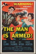 """Movie Posters:Crime, The Man is Armed (Republic, 1956). One Sheet (27"""" X 41""""). Crime.. ..."""
