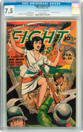 Golden Age (1938-1955):War, Fight Comics #36 (Fiction House, 1945) CGC VF- 7.5 Off-white towhite pages....