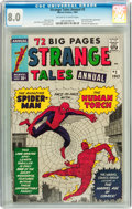 Silver Age (1956-1969):Superhero, Strange Tales Annual #2 (Marvel, 1963) CGC VF 8.0 Off-white to white pages....