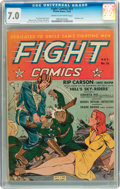 Golden Age (1938-1955):War, Fight Comics #21 (Fiction House, 1942) CGC FN/VF 7.0 Cream tooff-white pages....