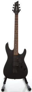 Musical Instruments:Electric Guitars, Schecter Damien-6 Black Solid Body Electric Guitar, Serial#0638040....