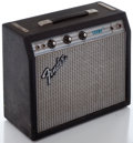 Musical Instruments:Amplifiers, PA, & Effects, 1970's Fender Champ Silverface Guitar Amplifier, Serial #A981214....