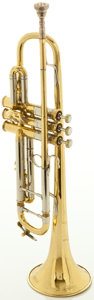 Musical Instruments:Horns & Wind Instruments, Circa 1940's Bach Stradivarius Model New York 67 Brass Trumpet, Serial #8238....