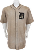 Baseball Collectibles:Uniforms, 1922 Ty Cobb Game Worn Detroit Tigers Uniform....