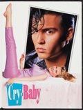"Movie Posters:Comedy, Cry-Baby (Universal, 1990). Press Kit (Multiple Items, 8.5"" X 11"") & Photos (7) (8"" X 10""). Comedy.. ..."