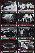 """Movie Posters:Comedy, Dr. Strangelove or: How I Learned to Stop Worrying and Love the Bomb (Columbia, 1964). German Lobby Card Set of 8 (9"""" X 12"""")... (Total: 9 Items)"""