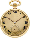 Timepieces:Pocket (post 1900), Tiffany & Co. Gold Watch By Agassiz. ...