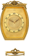 Timepieces:Clocks, Mersmann Gilt Table Or Wall Hanging Clock. ...