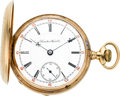 Timepieces:Pocket (pre 1900) , Hamilton Early Gold Grade 937, # 1867, circa 1893. ...