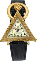 Timepieces:Wristwatch, Waltham (Swiss) Masonic Wristwatch. ...