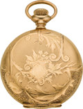 Timepieces:Pocket (post 1900), Waltham 16 Jewel Lady Waltham Hunters Case, circa 1901. ...