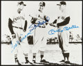 Baseball Collectibles:Photos, Ted Williams, Mickey Mantle and Stan Musial Multi SignedPhotograph....