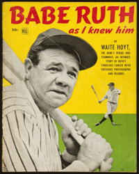 """1948 """"Babe Ruth as I Knew Him"""" Publication"""