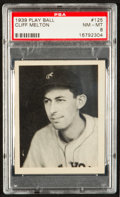 Baseball Cards:Singles (1930-1939), 1939 Play Ball Clifford Melton #125 PSA NM-MT 8 - None Higher! ...