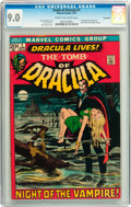 Bronze Age (1970-1979):Horror, Tomb of Dracula #1 Savannah pedigree (Marvel, 1972) CGC VF/NM 9.0Cream to off-white pages....