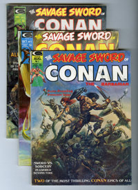 Savage Sword of Conan and Savage Tales Short Box Group (Marvel, 1974-80) Condition: Average VG