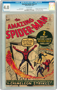 The Amazing Spider-Man #1 (Marvel, 1963) CGC VG 4.0 Off-white pages
