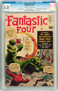 Fantastic Four #1 (Marvel, 1961) CGC GD/VG 3.0 Off-white to white pages