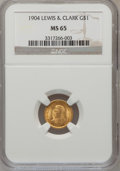 Commemorative Gold: , 1904 G$1 Lewis and Clark MS65 NGC. NGC Census: (181/124). PCGSPopulation (279/138). Mintage: 10,025. Numismedia Wsl. Price...