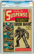 Silver Age (1956-1969):Superhero, Tales of Suspense #39 (Marvel, 1963) CGC VG 4.0 Cream to off-white pages....