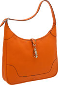 Luxury Accessories:Bags, Hermes 35cm Orange H Clemence Leather Trim Bag with PalladiumHardware. ...