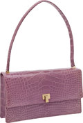 Luxury Accessories:Bags, Lambertson Truex Lavender Crocodile Shoulder Bag. ...