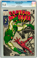 Silver Age (1956-1969):Superhero, Captain Marvel #13 Twin Cities pedigree (Marvel, 1969) CGC NM/MT 9.8 White pages....