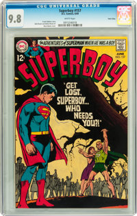 Superboy #157 Twin Cities pedigree (DC, 1969) CGC NM/MT 9.8 White pages