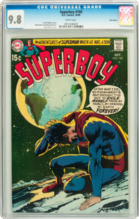Superboy #160 Twin Cities pedigree (DC, 1969) CGC NM/MT 9.8 White pages
