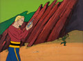 Animation Art:Limited Edition Cel, The New Adventures of Flash Gordon Production Cel with Background Animation Art (Filmation, 1979)....