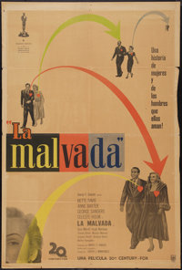 """All About Eve (20th Century Fox, 1950). Argentinean Poster (29"""" X 43""""). Academy Award Winners"""