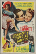 """Movie Posters:Musical, Tonight and Every Night (Columbia, 1945). Spanish Language One Sheet (27"""" X 41""""). Musical.. ..."""