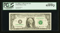 Fr. 1918-C* $1 1993 Federal Reserve Star Note. PCGS Gem New 65PPQ