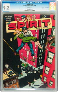 The Spirit #14 Mile High pedigree (Quality, 1948) CGC NM- 9.2 White pages
