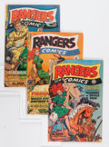 Golden Age (1938-1955):War, Rangers Comics #51-54 Group (Fiction House, 1942).... (Total: 4Comic Books)