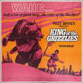 """Movie Posters:Family, King of the Grizzlies (Buena Vista, 1970). Six Sheet (81"""" X 81""""). Family.. ..."""