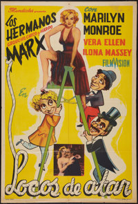 """Love Happy (United Artists, R-1950s). Argentinean One Sheet (29"""" X 43""""). Comedy"""
