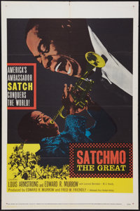 """Satchmo The Great (United Artists, 1957). One Sheet (27"""" X 41""""). Musical"""