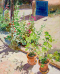 Paintings, WALTER GONSKE (American, b. 1942). Taos Charm. Oil on canvas. 32 x 26 inches (81.3 x 66.0 cm). Signed lower left: Gons...