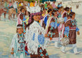 Paintings, ROSS STEFAN (American, 1934-1999). Heirs of the Ancient Songs. Oil on canvas. 28 x 40 inches (71.1 x 101.6 cm). Signed l...