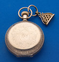 Timepieces:Pocket (post 1900), Elgin 18 Size Hunter's Case Pocket Watch With Fob. ...