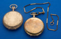 Timepieces:Pocket (post 1900), Two Pocket Watches - Elgin & New York Standard 12 Sizes Hunter's Cases Runners. ... (Total: 2 Items)