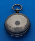 Timepieces:Pocket (pre 1900) , Swiss Sterling Hunter's Case Key Wind Pocket Watch. ...