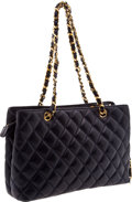 Luxury Accessories:Bags, Chanel Vintage Royal Blue Lambskin Leather Tote Bag. ...
