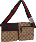 Luxury Accessories:Bags, Gucci Classic Monogram Beige Canvas Multipocket Fanny Pack. ...