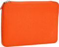 Luxury Accessories:Accessories, Hermes Orange H Chevre Leather Azap Zip-Around Agenda. ...