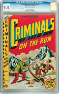 Golden Age (1938-1955):Crime, Criminals on the Run V4#3 (Novelty Press, 1948) CGC NM 9.4 Off-white to white pages....